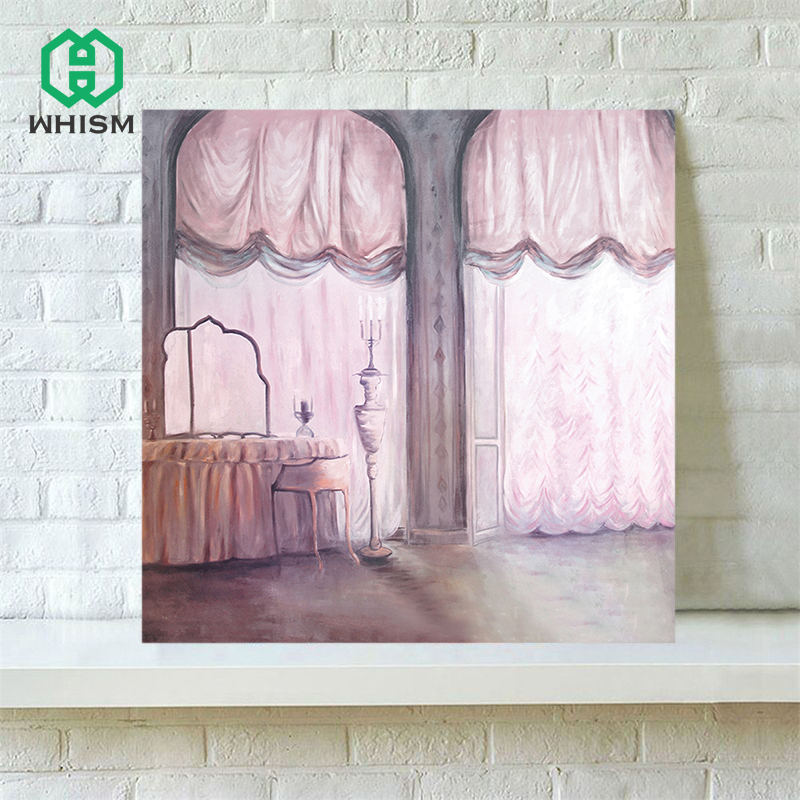 WHISM Decorative Abstract Oil Painting Artwork Wall Art Canvas Printing Canvas Drawing Frameless Rural Fields Canvas Painting