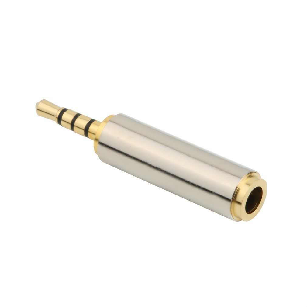 Złoty 2.5mm mężczyzna do 3.5mm kobieta audio adapter stereo konwerter wtyczki gniazdo słuchawkowe Dropshipping
