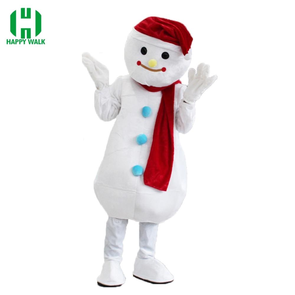 Costume de bonhomme de neige de noël Costume de mascotte pour adultes tenue de noël Halloween déguisement Costume de mascotte de fête