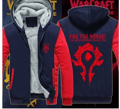 Dropshiping USA size Men Women For the Horde printed Jacket Sweatshirts Thicken Hoodie Coat Clothing Casual plus size 6XL