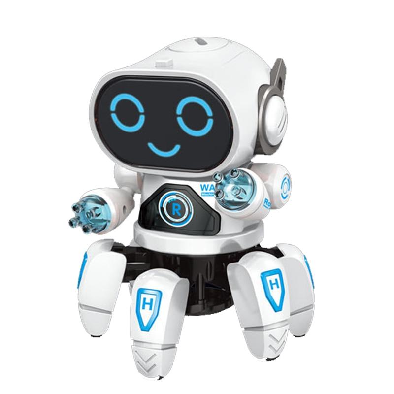 Robô de dança inteligente eletrônico andando brinquedos com musical & led iluminação octopus robô para crianças inteligente legal presente aniversário