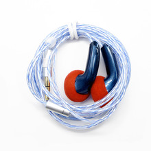Newest FENGRU DIY EMX500S In-ear Earphones Flat Head Plug DIY Earphone HiFi Bass Earbuds