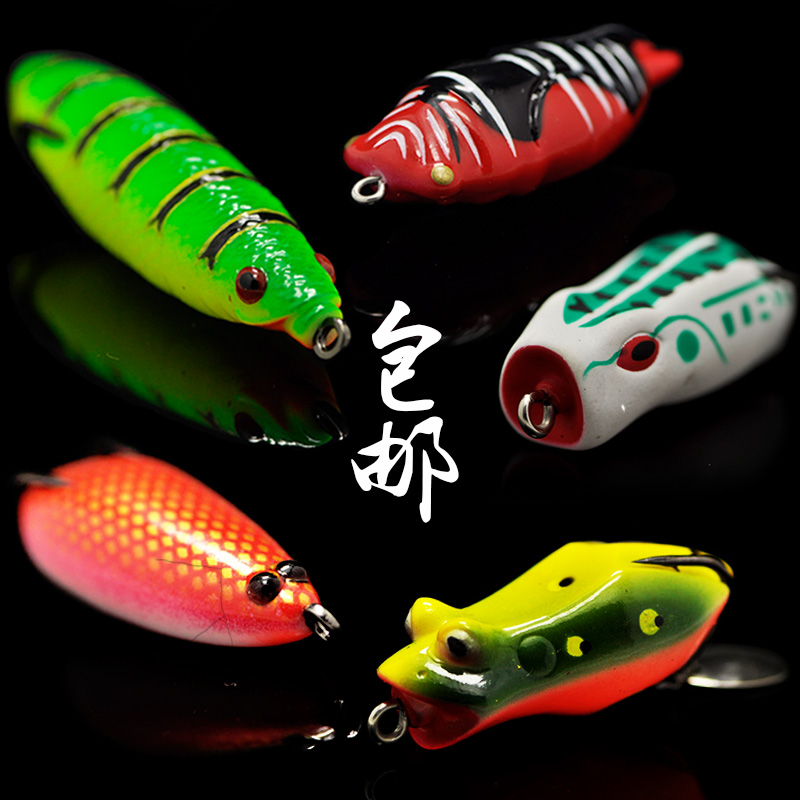2017 New Fishing Lure Frog Soft Bait Single Double Hook Artificial Lures Snakehead Fish Catch y0018 wholesale ray frog sets playing blackfish bait lures bait floating frog bait fishing