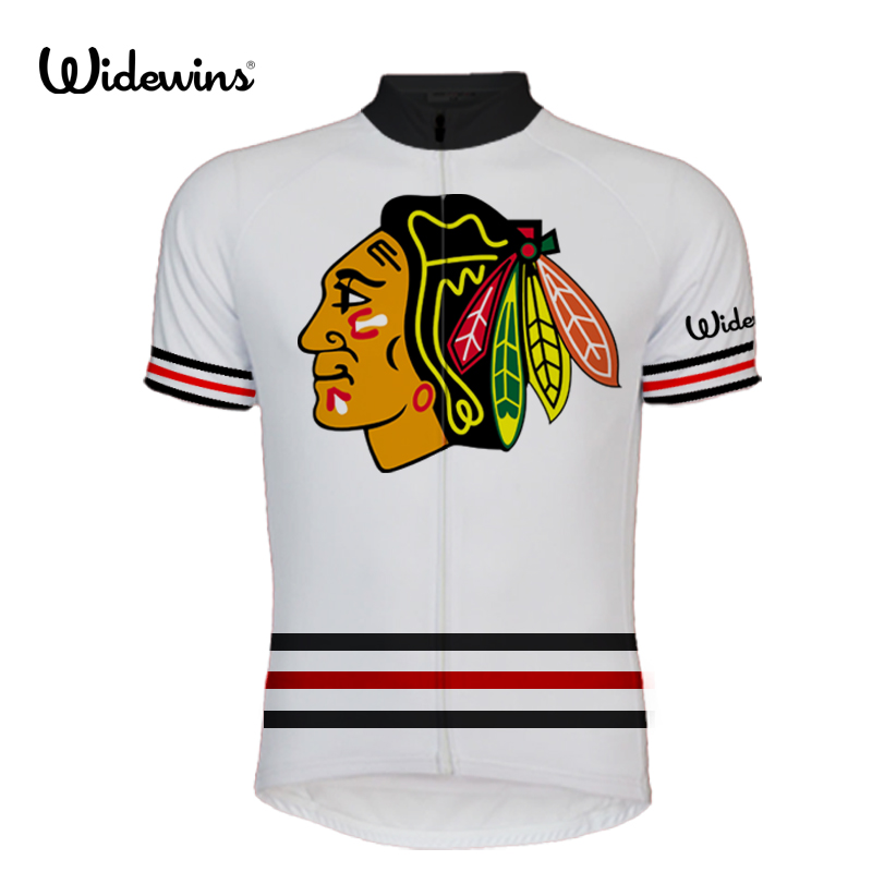 new arrival 779ca a2734 US $12.7 40% OFF|2017 PRO team USA cycling Jerseys Summer Quick Dry Short  Sleeve Jersey chicago blackhawks men bike wear cycling clothing 8002-in ...