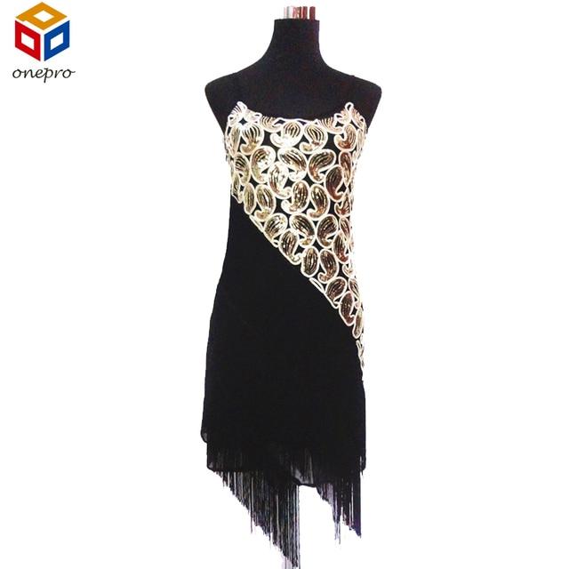 Женская 1920 s Пейсли Art Deco Блесток Кисточкой Глэм Партии Гэтсби Dress Латинский Танец Mini Dress Большой Размер