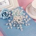 Os acessórios de noiva branco handmade globularness acessório do cabelo macio acessório do cabelo casado casamento acessórios