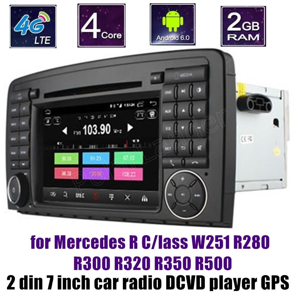 Quad Core Android 6.0 pour B-ENZ R C/indeau W251 R280 R300 R320 R350 R500 lecteur DVD de voiture Navigation GPS Radio