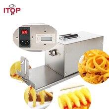 ITOP коммерческий Электрический картофель Твистер Торнадо ломтерезка машина Автоматическая Высокое качество картофеля спиральный резак ЕС/США Разъем