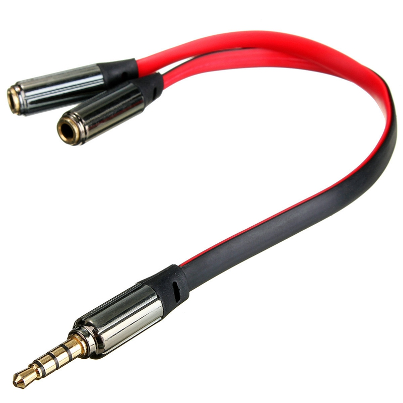 Audio Cable 3.5mm Gold Male Jack to 2 Dual Female RCA Splitter Headphone Y Audio Adapter Extension Cable For Headset Earphones hot 3 5mm female to 2 rca male jack audio video cable 1 5m