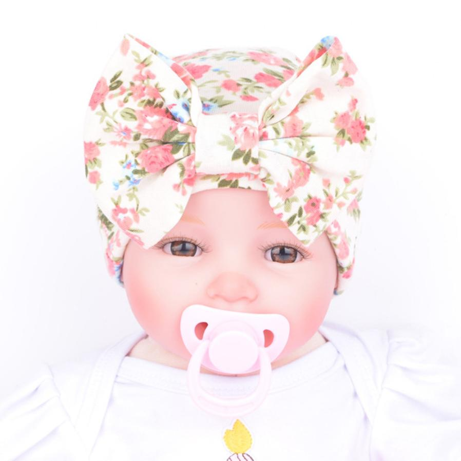Newborn Baby Hospital Hat Baby Hats With Bowknot Flower Hat Skullies Beanie Photography Props Drop Shipping High Quality WOct28 new arrival lovely newborn hospital hat cute girls baby hats with flower bowknot flower hat high quality