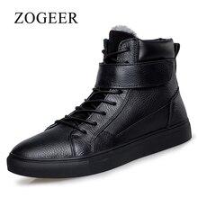 ZOGEER Plus Größe 38-48 männer Stiefel, schwarz Geschäfts-formale Kleid Männer Stiefel, 2017 neue Leder Winter Mann Formale Schuhe
