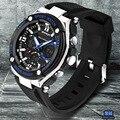 Nova GMT digitais relógio de quartzo das mulheres dos homens de esportes ao ar livre relógio de mergulho 50 m relógios relógio militar esporte S Choque original goldren masculino