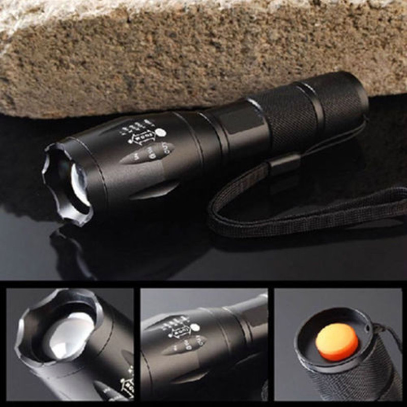 3000 Lumens CREE XML-T6 Flashlight LED Torch Zoomable LED Flashlight Bike Bicycle Light for 3 x AAA or 1x18650 Battery hot led 1600 lumens 3 mod zoomable fashlight t6 light 3 aaa 1 18650 rechargeable flash light head torch lantern lamp