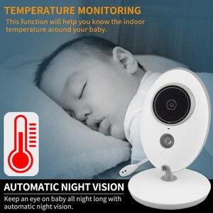 Image 2 - Taktark 2.4インチワイヤレスビデオベビーモニターカラーカメラインターホンナイトビジョン温度監視ベビーシッター乳母