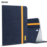 Skerimte Silicon+Cloth PU Leather Smart   Tablet     Case   For Samsung Galaxy Tab S3 9.7 inch T820 T825 SM-T820 Smart Sleep Cover Funda