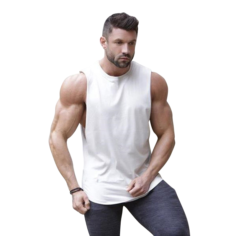 MarKyi 2019 Men Singlet Sleeveless Cotton Workout Muscle New Gyms   Tank     Tops   Gray Patchwork Men's Bodybuilding Clothes Fitness