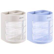 Mini white blue color pen holder Multi drawer storage box organizer gift Stationery office accessories School supplies F068