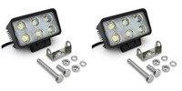2pcs White 12 Volt 18W LED Working Light Bulbs Worklight Driving 12V 24v 18W Bulb Spot