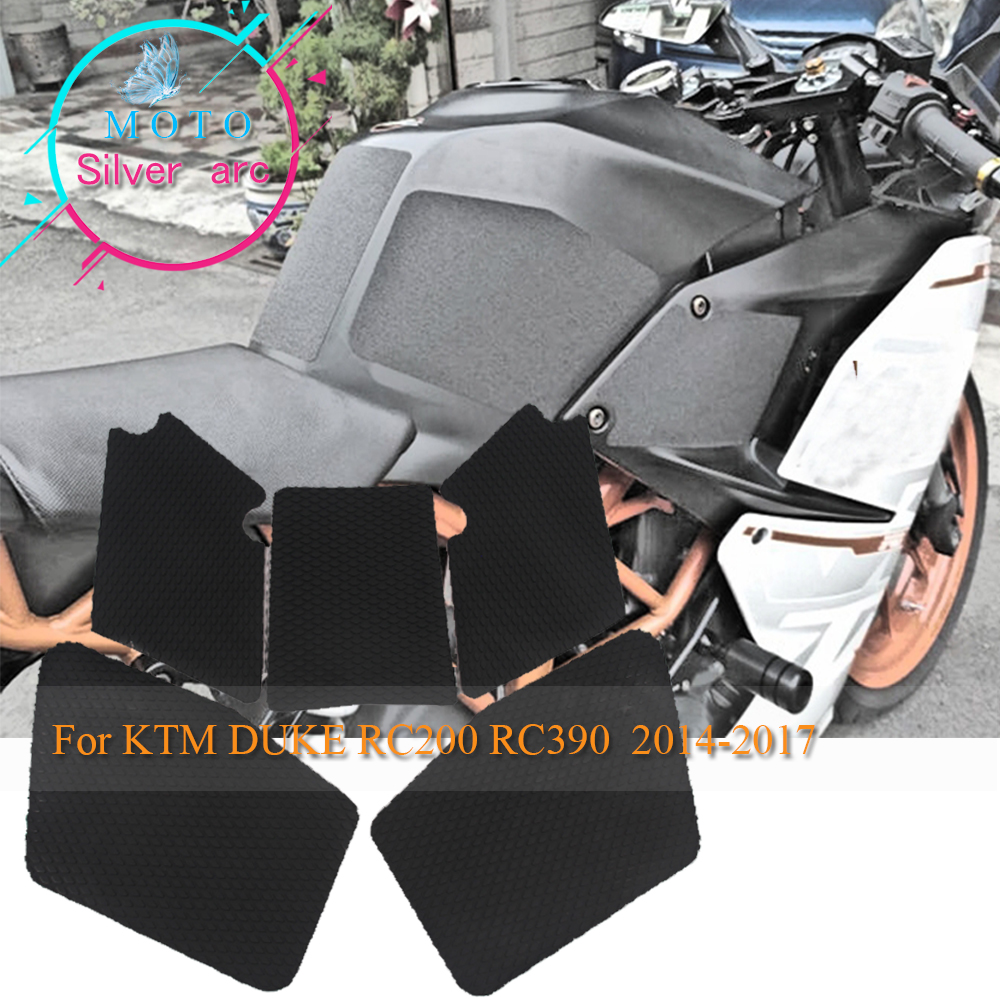 Motorcycle Tank Pad Side Gas Knee Grip Stickers 1SET FOR KTM DUKE RC 200 RC 390 RC200 RC390 2014-2017 2016 2015 7 822mm handlebar rubber hand grips brake hands brakes clutch lever for ktm 200 duke rc200 390 duke rc390 duke250 2014 2015