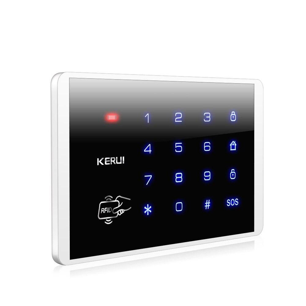 KERUI K16 RFID Touch Wireless Password Burglar Access Control System Arm/Disarm Keypad For KERUI PSTN GSM WiFi Alarm Systems