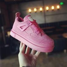 Ulzzang Casual Women Shoes Autumn Spring Women Comforable Walking Shoes Height Increasing Lace Up Harajuku Leisure Flat Shoes