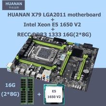 Neue ankunft!! HUANAN X79 LGA2011 V2.49 version motherboard CPU RAM combos set Intel Xeon E5 1650 V2 16G (2*8G) speicher