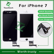 2 шт Качество AAA 4,7 дисплей Pantalla iPhone клон для iPhone 7 ЖК-экран с 3D сенсорным экраном в сборе белый/черный Замена