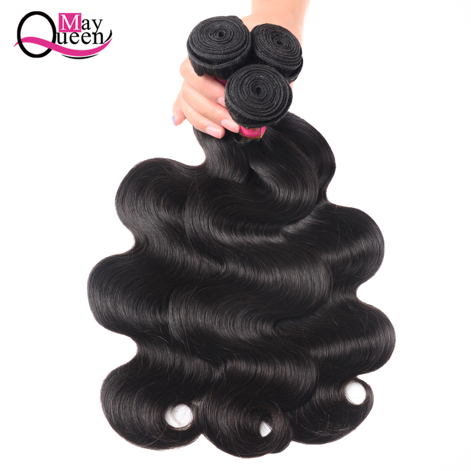 4pcs/lot Human Hair Bundles With Closure Free Middle Part Brazilian Body Wave Human Hair 3 Bundles With Closure Non Remy