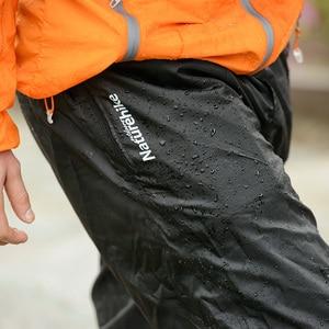 Image 5 - NatureHike Pieghevole Antipioggia Pantaloni Più Pantaloni da Uomo Impermeabile Antivento Elastico In Vita Pantaloni Da Pioggia con Doppio Chiusure Lampo