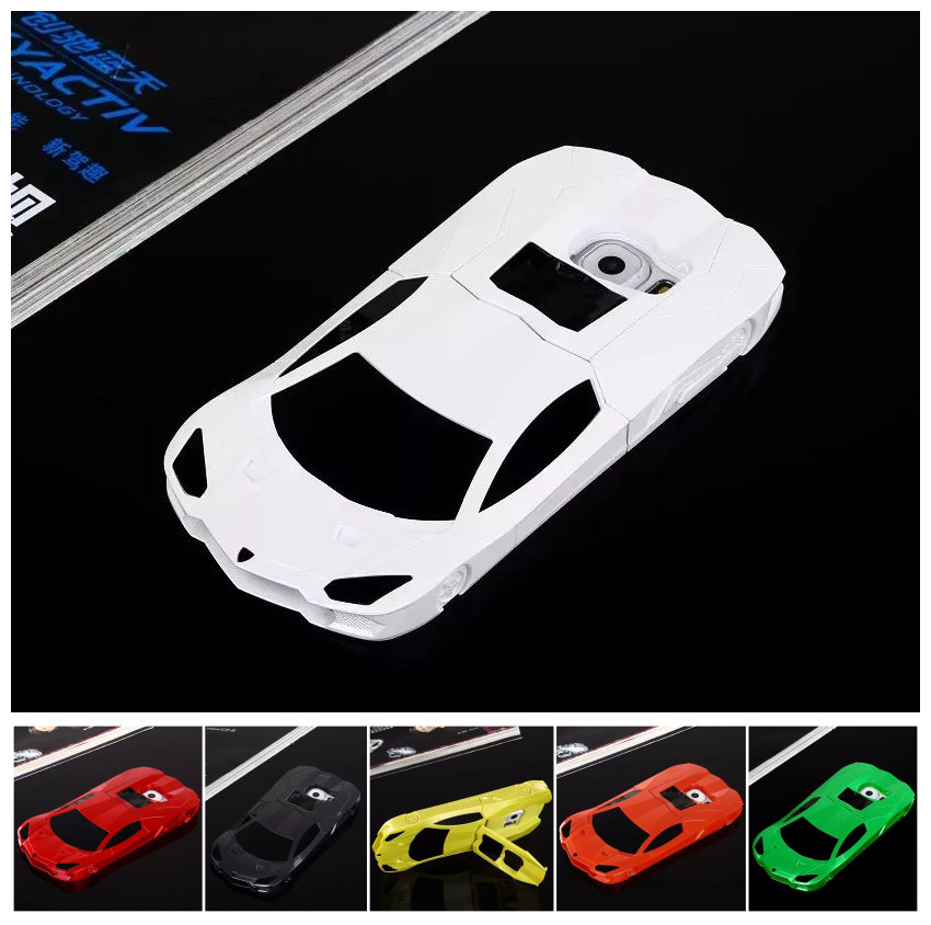 DEEVOLPO 3D Fashion Hard Case For Samsung Galaxy S6 G920 G9200 G920F Sport Racing Car Design Protective Cover With Stand