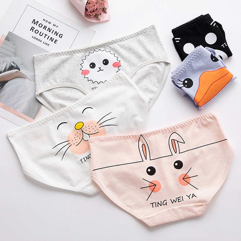 New Arrived Girl   Panties   Girl Underwear Cartoon   Panties   Bowknot Briefs Cotton Lingerie Soft Comfortable Lovely   Panty   C005