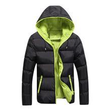4XL 2018 Winter Casual Parkas Mens Jackets Male Overcoat Warm Zipper Slim Hooded Jacket Padded Thin Coat Men Parka Plus Size цена