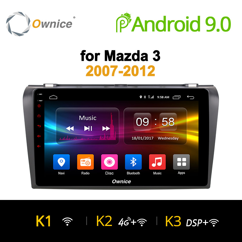 Ownice K1 K2 Octa 8 CORE android 8.1 car dvd gps player For Mazda 3 2007 - 2012 navigation Support 4G SIM Card 2G RAM DAB+