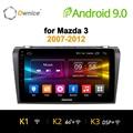 Ownice K1 K2 Octa 8 CORE android 8,1 coche dvd gps player para Mazda 3 2007-2012 soporte de navegación 4G tarjeta SIM 2G RAM DAB +