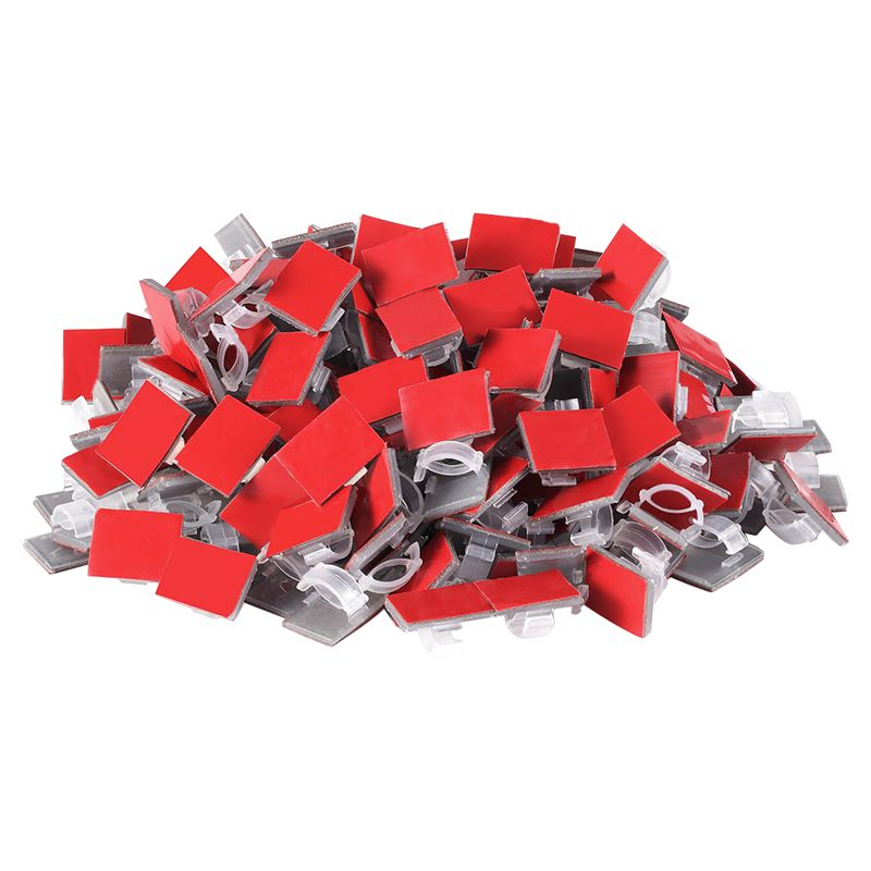 200 Pcs Adhesive Cable Clips Wire Clips Cable Wire Management Wire Holder Cable Clamps Cable Tie Holder for String Lights, Car, cc 596 silicone spiral spring cable tie wrap management green 2 pcs