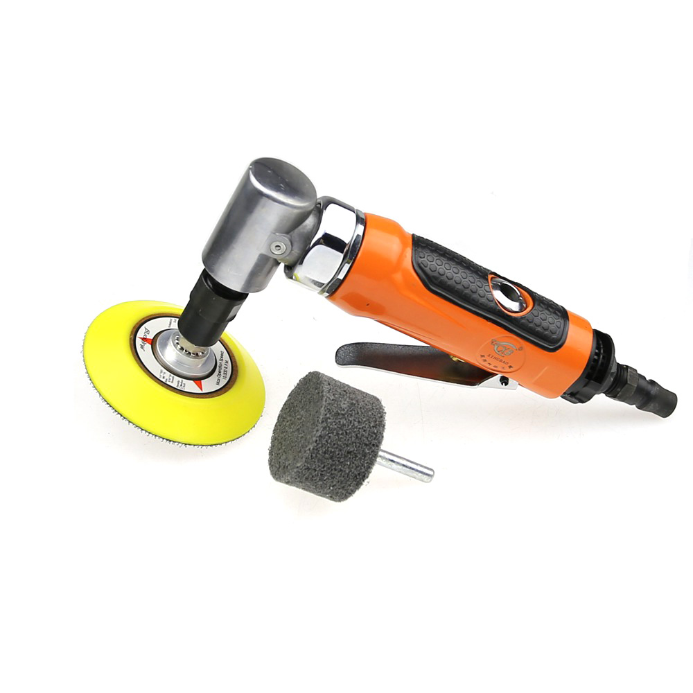 6mm Pneumatic Die Grinder 90 Degree Angle Air Die Grinder 6mm Shaft Non woven Polishing Wheel
