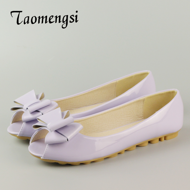 Summer Footwear Women Flats Boat Shoes Cute Sweet Elegant Peep Toe Shoes Woman Slipony Rosette Ladies Student Flats Shoes 34-43 yiqitazer 2017 new summer slipony lofer womens shoes flats nice ladies dress pointed toe narrow casual shoes women loafers