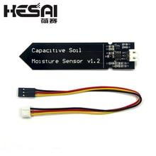Емкостный модуль датчика влажности почвы не легко подвергать коррозии широкий провод напряжения 3,3~ 5,5 В Коррозионностойкие W/Gravity для Arduino