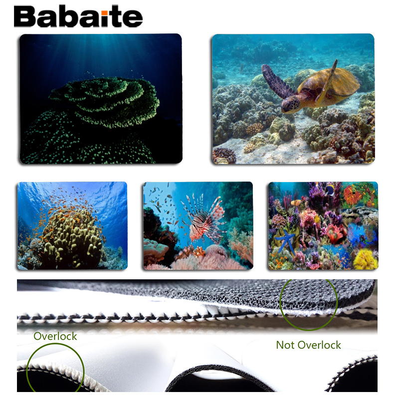 Babaite New Arrivals Coral reef Computer Gaming Mousemats Size for 180x220x2mm and 250x290x2mm Small Mousepad