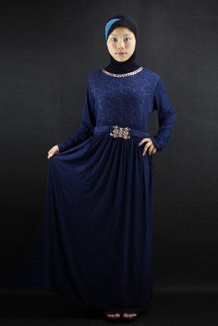 Kleidung blau und braun