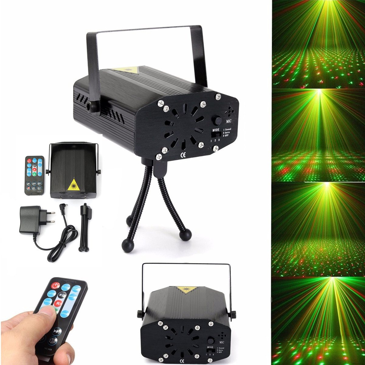 LED Star Laser Projector Stage Light Remote Control Night Lamp Tripod DJ Club Pub Bar Disco Wedding Party Show Lighting 7colors led night light starry sky remote control ocean wave projector with mini music novelty baby lamp led night lamp for kids