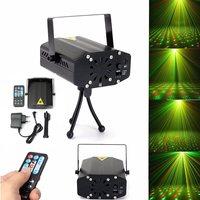 LED Star Laser Projector Stage Light Remote Control Night Lamp Tripod DJ Club Pub Bar Disco