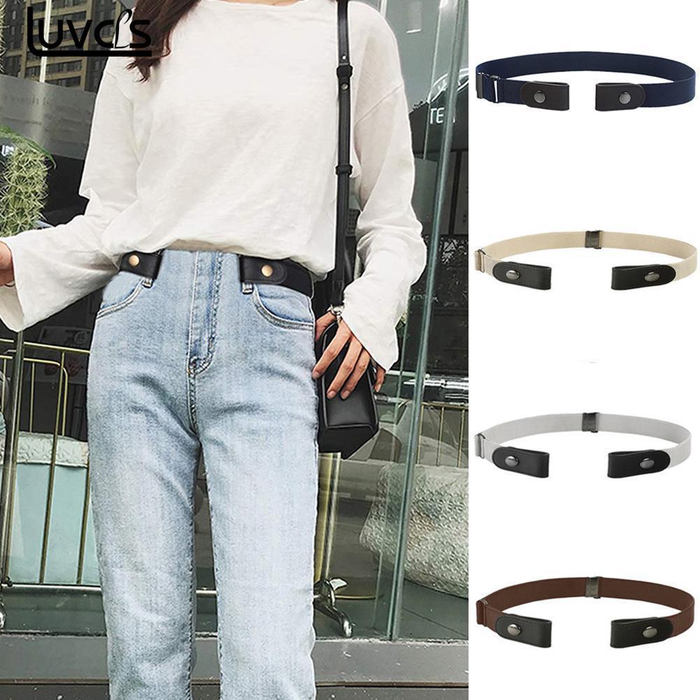 Nuevo Unisex hebilla-hebilla de cinturón elástico para los pantalones vaqueros vestido Stretch cintura cinturón para los hombres y las mujeres No hebilla sin hebilla gratis cinturones