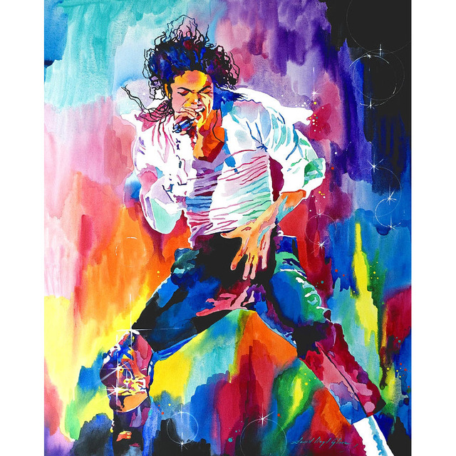 Canvas Oil Painting Famous Star Michael Jackson Home Decor By