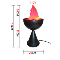 110V Flame Lamp Wedding Party Holiday Supplies Simulation Fire LED Light Halloween Props Lights Christmas Decoration