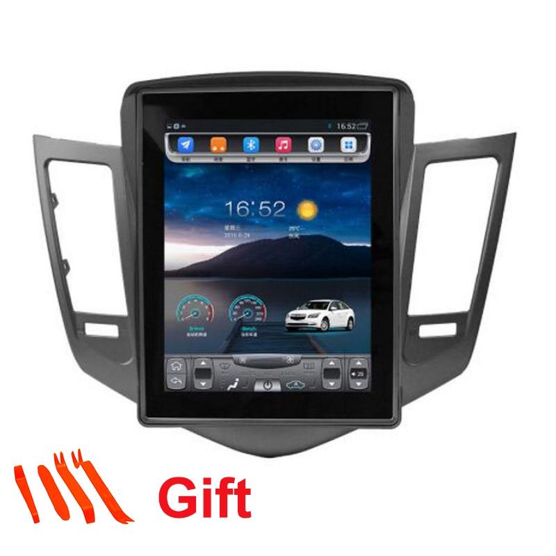 Voiture Smart Grand Écran 10.4 pouce Tesla Style Écran Voiture GPS Navigation Pour Chevrolet Cruze 2009-14 Soutien Vidéo 4g avec Google
