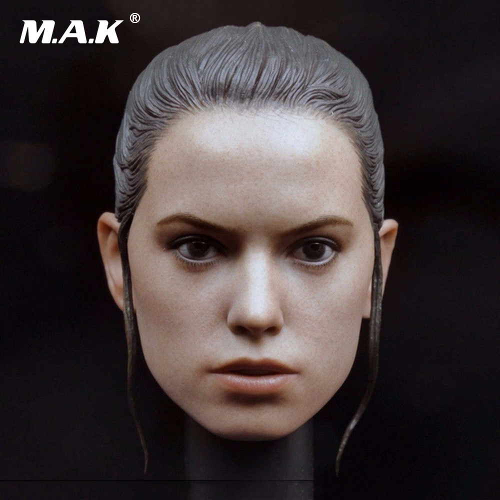 Star Wars 7 1/6 Female Super Star Head Sculpts Rey Head Carving Model Toys For 12 Action Figure Body Gifts Collections kumik toys 1 6 female short hair head sculpts model kids toys girl head carving 13 46 np 12 action figure collections