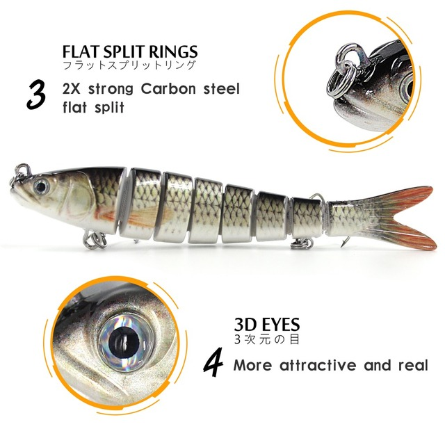 Fishing Lures 14cm Sinking Wobblers Multi Jointed Swimbait Pike Lure Hard Baits Fishing Tackle for Bass Trout Pesca Isca Carp 2