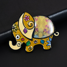 D&Rui Jewelry Colorful Lucky Elephant Pins & Brooches High Quality Women Mens Enamel Animal Beautiful Brooch Best Gifts