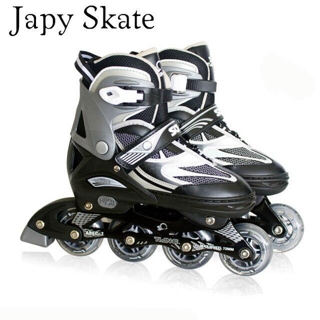 21792ceb9 Japy تزلج الكبار الطفل قابل للتعديل أحذية التزلج الأسطوانة الفنية نوعية  جيدة شحن التزلج على الجليد